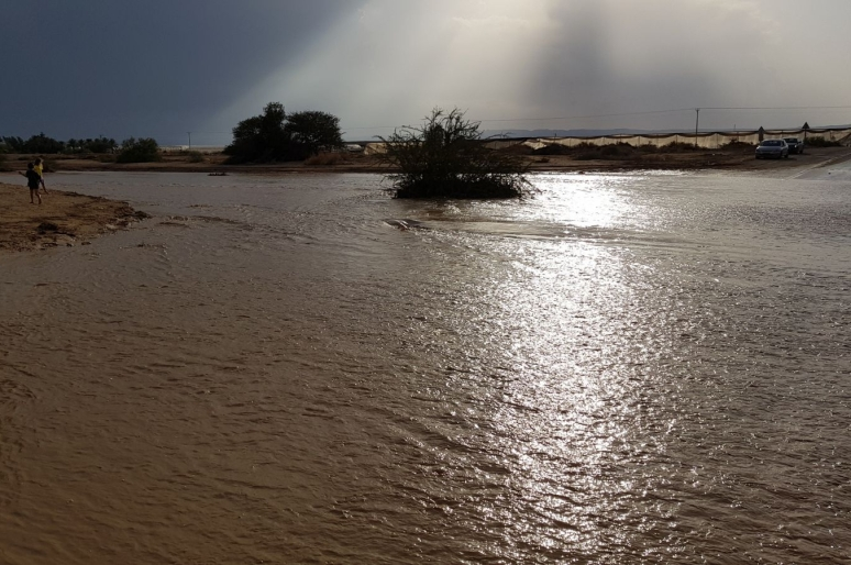Annual flood in the Arava