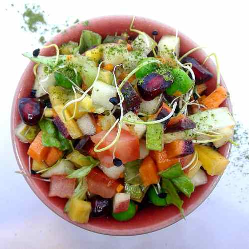 mixed salad & moringa