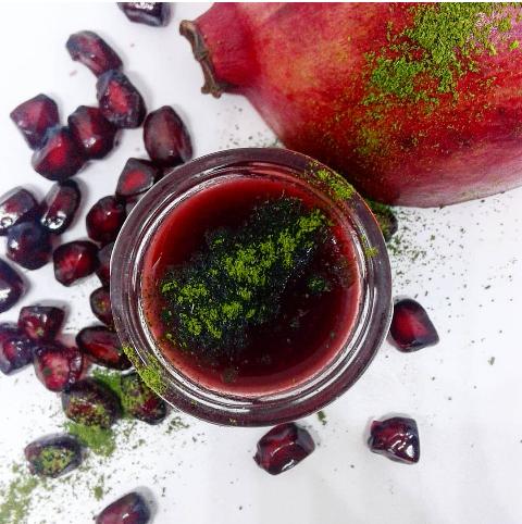pomegranate chutney & moringa